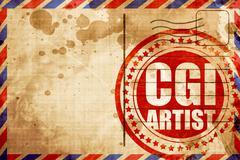 computer generated image artist - stock illustration