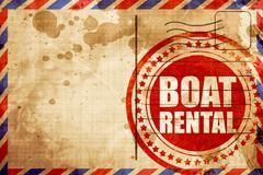 Boat rental Stock Illustration