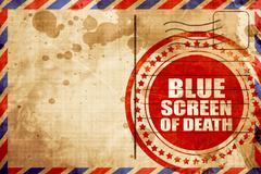 Blue screen of death Stock Illustration