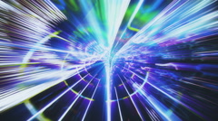 Streaming data abstraction with light effects - Data Storm 0595 HD, 4K Stock Footage