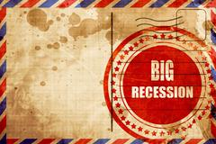 Recession sign background Stock Illustration