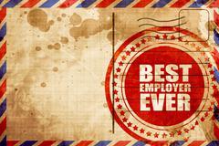 best employer ever - stock illustration