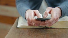 Bible Study on a Smartphone Stock Footage
