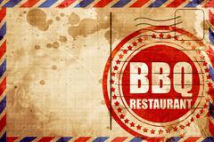 Bbq restaurant Stock Illustration