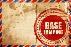 base jumping - stock illustration