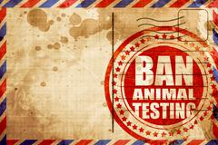 ban animal testing - stock illustration