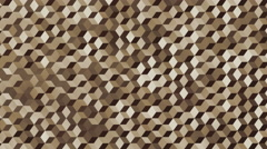 Background animation loop of camouflaged cubes in desert colors. Stock Footage