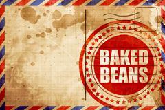 baked beans - stock illustration