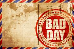bad day - stock illustration