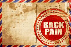 back pain - stock illustration