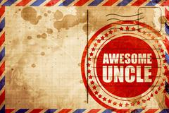 awesome uncle - stock illustration