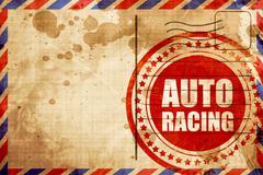 Auto racing Stock Illustration