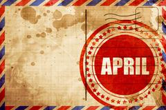 April Stock Illustration