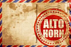 Alto horn Stock Illustration