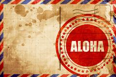 aloha - stock illustration