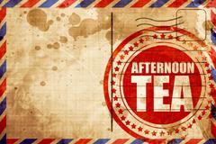 Afternoon tea Stock Illustration