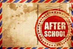 after school - stock illustration