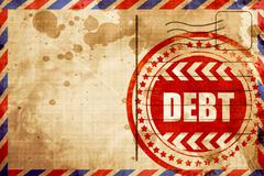 Debt sign with some smooth lines Stock Illustration