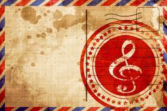 Music note background - stock illustration