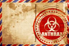 Anthrax virus concept background, red grunge stamp on an airmail Stock Illustration