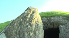 Stoneage Burial Chamber In UK Stock Footage