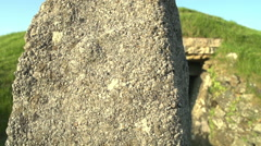 Ancient Stone Burial Chamber In UK Stock Footage