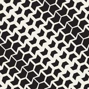 Vector Seamless Black And White Chevron Halftone Diagonal Geometric Pattern Stock Illustration