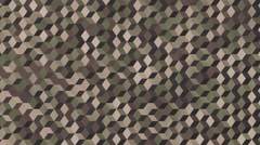 Background animation loop of camouflaged cubes in woodland colors. Stock Footage