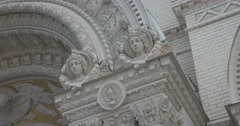 Naval Cathedral in Kronstadt. A fragment of decoration of the main entrance. Stock Footage