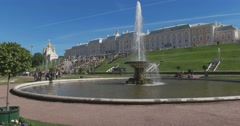 The Fountains Bowl. Petergof Stock Footage