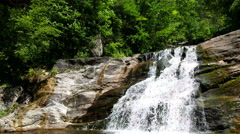 Waterfall in kent state park - USA- Connecticut Stock Footage