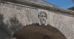The bas-relief on the bridge. Tsarskoye Selo. Tsar's Village Stock Footage