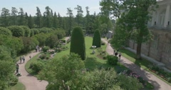 Cameron Gallery. A view of the gardens. Tsarskoye Selo. Tsar's Village - stock footage