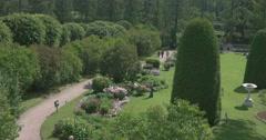 Catherine Park. The gardens, the gardener. Tsarskoye Selo. Tsar's Village Stock Footage
