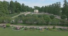 Catherine Park. Gardens. Bathing pavilion. Tsarskoye Selo. Stock Footage