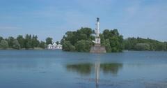 Kagul Obelisk in Tsarskoye Selo. Stock Footage