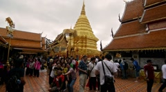 Chiang Mai, Thailand. Circa  Tourists taking pictures in Wat Phra Stock Footage