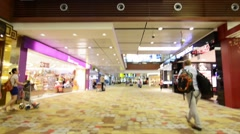 Singapore - AUGUST 5, 2014: Changi airport on August 5 in Singapore. Changi Stock Footage