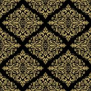 Seamless Wallpaper in the Style of Baroque - stock illustration
