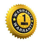 1 Month Warranty Sign Stock Illustration