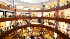 Dubai - AUGUST 7, 2014: Dubal Mall shopping mall on August 7 in UAE, Dubai Stock Footage
