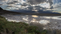 Badwater Basin Salt Flats Death Valley National Park Time Lapse - stock footage