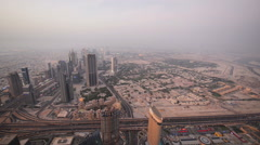 View of Dubai from the sky Stock Footage
