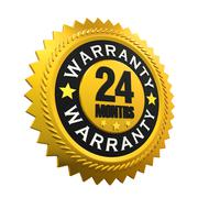 24 Months Warranty Sign Stock Illustration