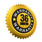 36 Months Warranty Sign Stock Illustration