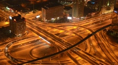 Busy intersection in Dubai UAE Stock Footage