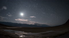 Badwater Basin Salt Flats Death Valley National Park Time Lapse Stock Footage
