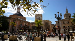 Valencia Cathedral, Home to the HolyGrail in time lapse Stock Footage