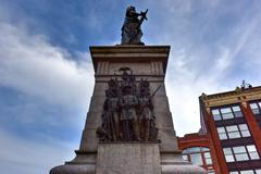 Portland Soldiers and Sailors Monument - Maine Stock Photos