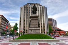Portland Soldiers and Sailors Monument - Maine - stock photo